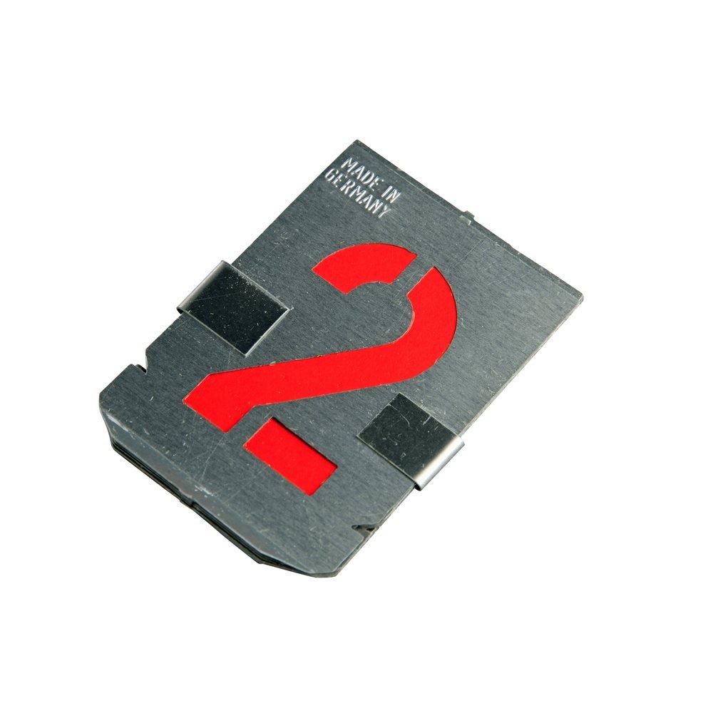 Signierschablonen 10 Teile Zinkblech 50 mm Schrifthöhe Ziffern